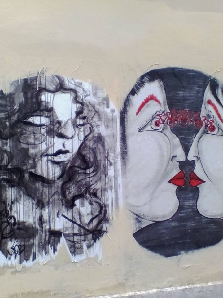 Murales - writing - e disegni a rilievo